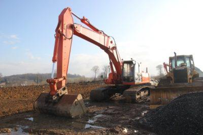 Pelle 35 tonnes chenille large